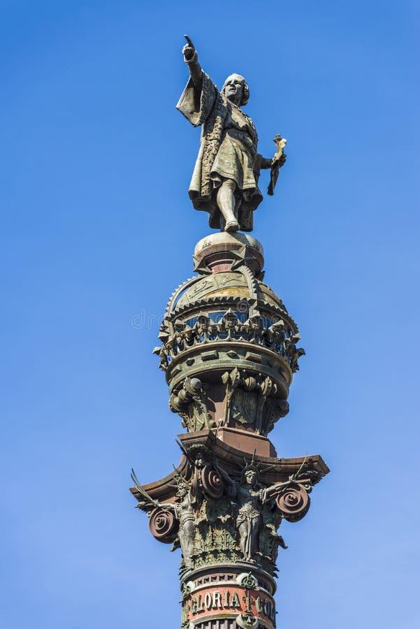 Christopher Columbus Monument Barcelona royaltyfri bild