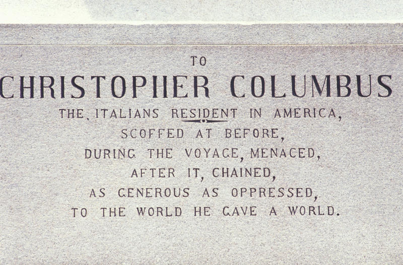 Download Christopher Columbus Plaque Stock Image - Image: 26889729