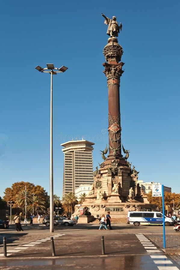 christopher Columbus posąg obraz royalty free