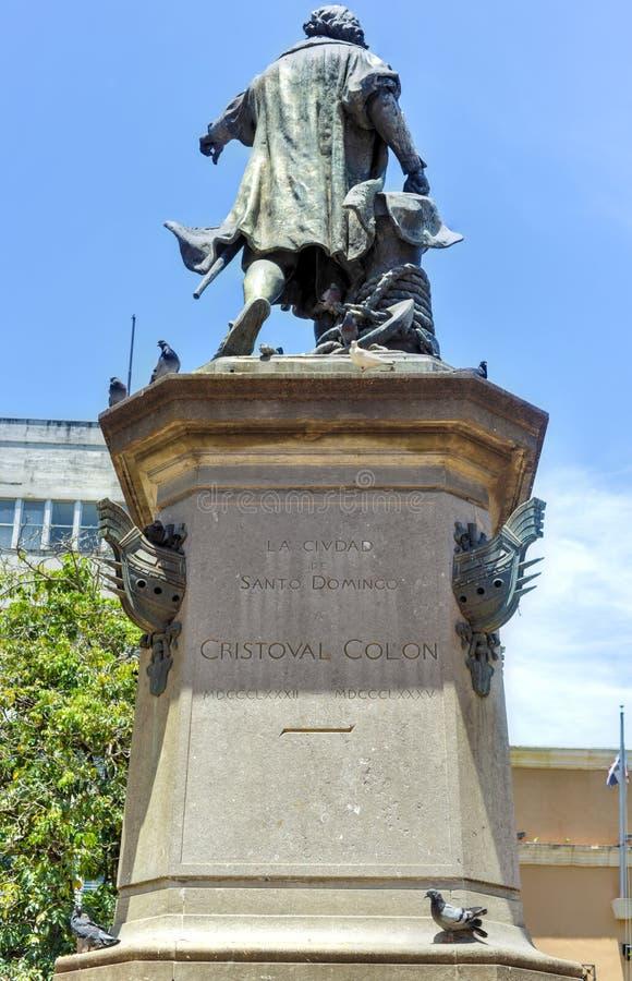 Christopher Columbus Statue, due punti di Parque, Santo Domingo, Caribb fotografia stock libera da diritti