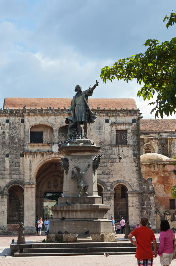 Christopher Columbus statue, Parque Colon, Santo Domingo.  stock image