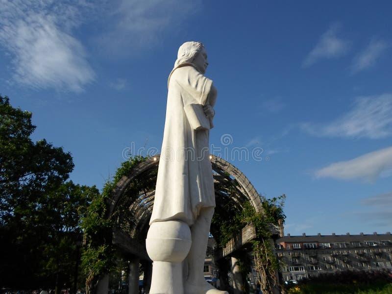 Christopher Columbus Statue, porto di Boston, Boston, Massachusetts, U.S.A. fotografia stock libera da diritti