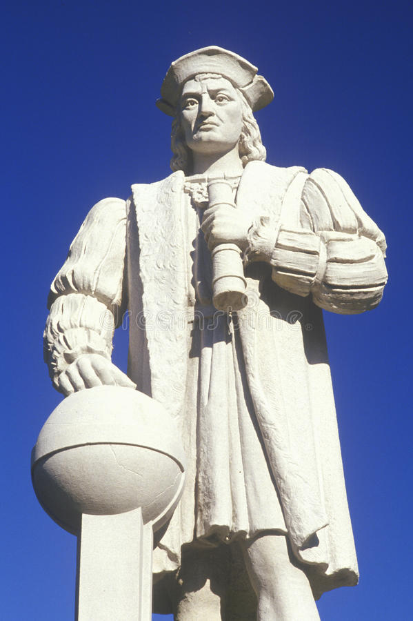 Christopher Columbus staty, västlig vind, CT royaltyfri bild