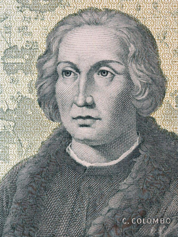Christopher Columbus un ritratto immagini stock libere da diritti