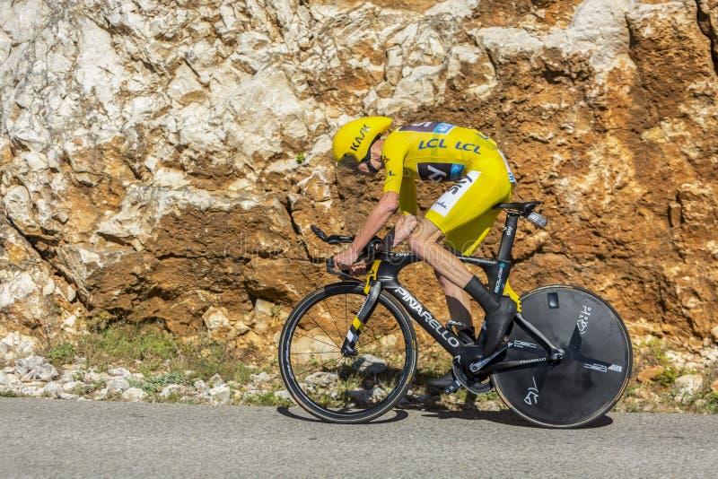 Christopher Froome individuellt Tid försök - Tour de France 2016 royaltyfri fotografi