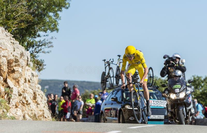 Christopher Froome, singola prova a cronometro - Tour de France 2016 fotografia stock libera da diritti