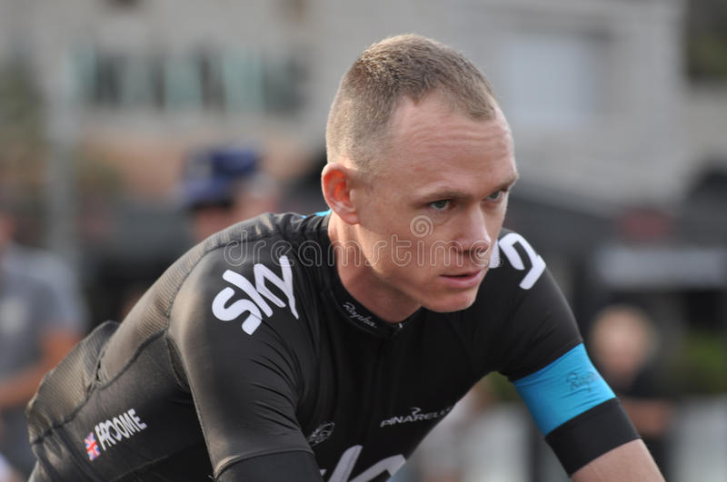 Christopher Froome, team Sky stock image