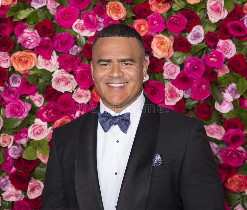 Christopher Jackson em Tony Awards 2018 fotos de stock royalty free