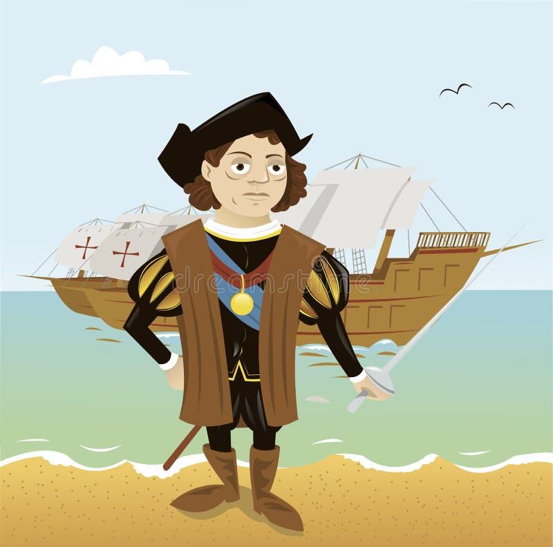 Christopher Kolumb ilustracja wektor