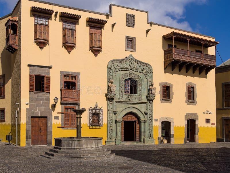 Christopher Kolumb domu las palmas De Gran Canaria obraz stock