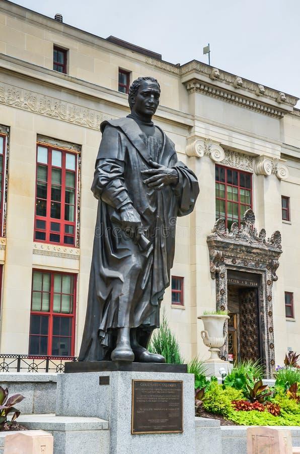 Christopher Kolumb statua - Kolumb, Ohio zdjęcie royalty free