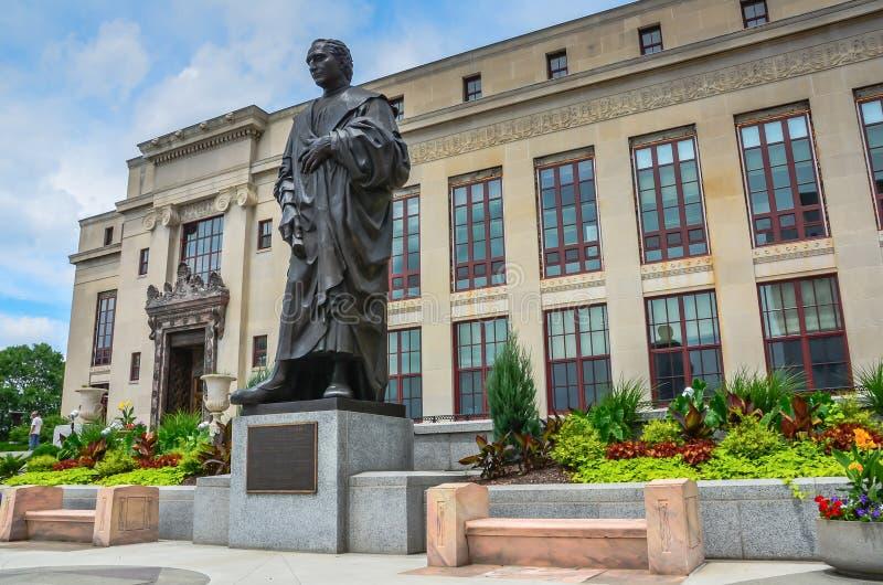 Christopher Kolumb statua - Kolumb, Ohio zdjęcia royalty free
