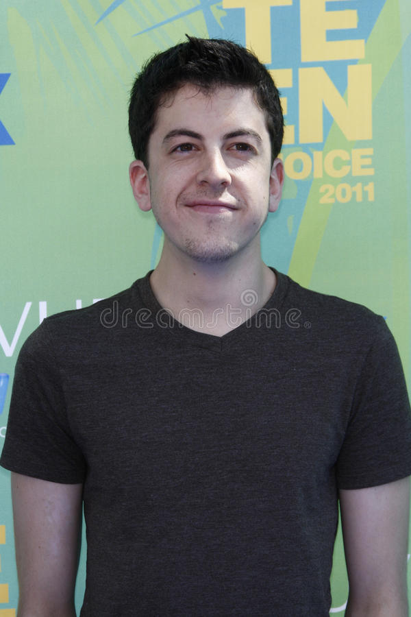 Christopher Mintz-Plasse. LOS ANGELES - AUG 7: Christopher Mintz-Plasse arriving at the 2011 Teen Choice Awards at Gibson Amphitheatre on August 7, 2011 in Los royalty free stock photography