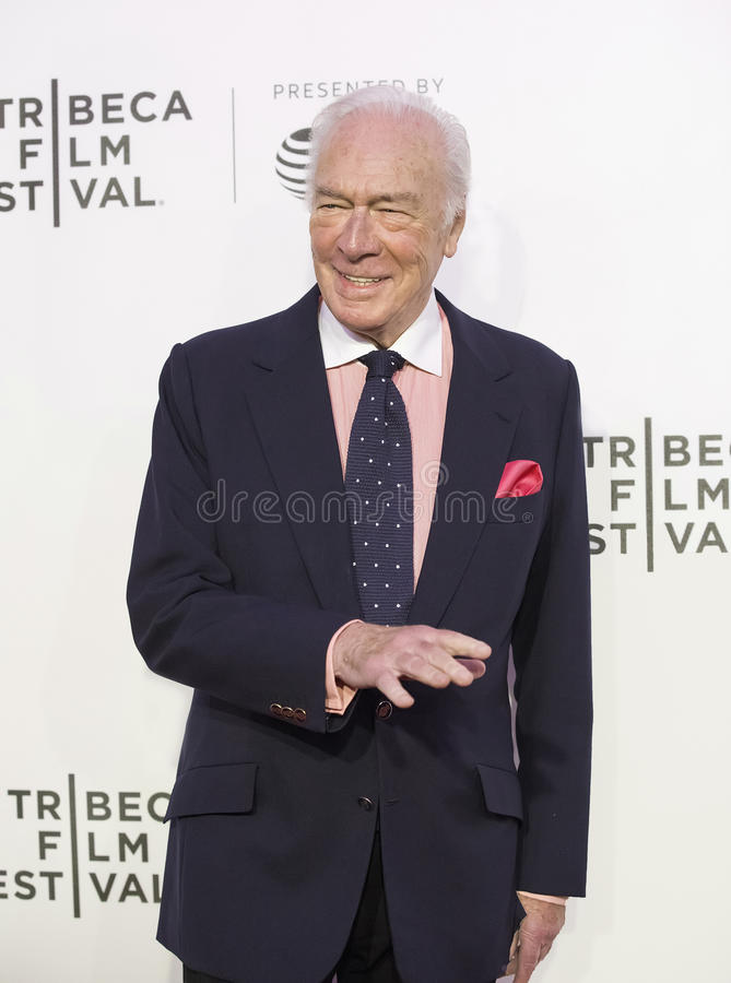 Christopher Plummer à la première 2017 de festival de film de Tribeca du ` l'exception ` images stock