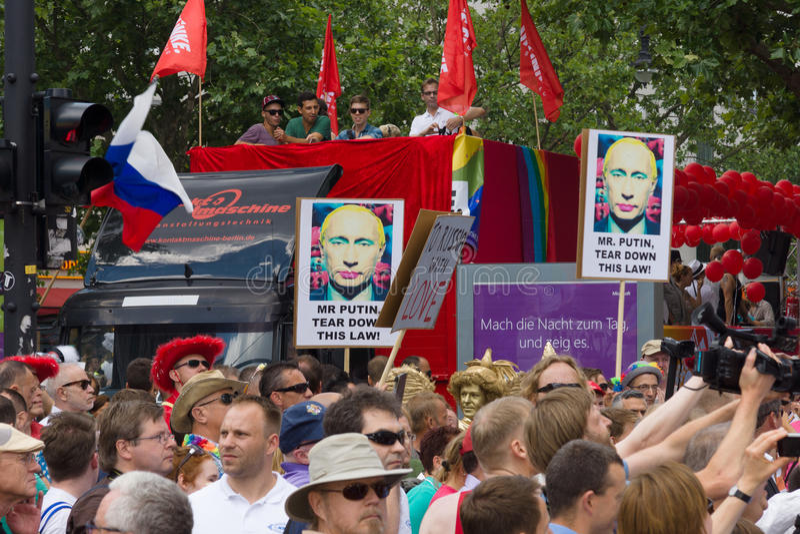 Christopher Street Day em Berlim germany imagens de stock royalty free