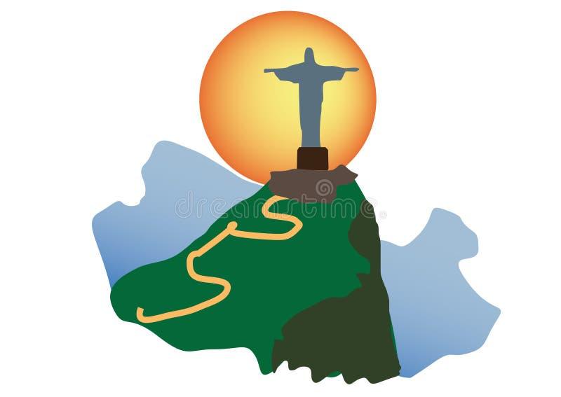ChristRedeemer von Rio de Janeiro stockbild