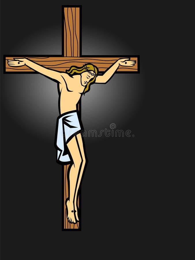 Christs Kreuzigung lizenzfreie abbildung