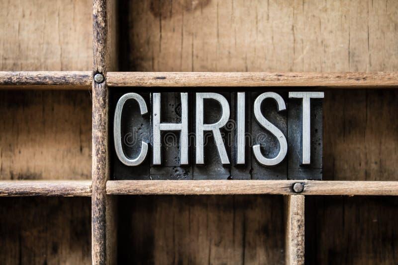 Christus-Briefbeschwerer tippen Fach ein stockbild