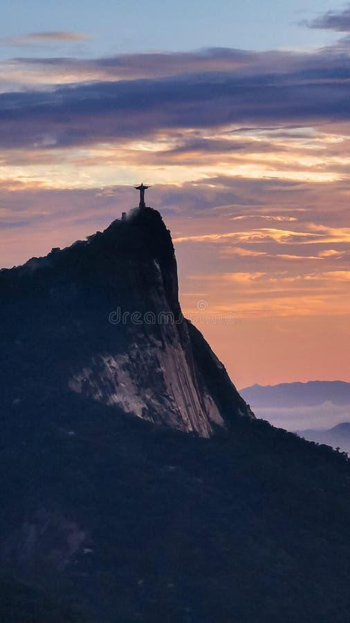 Christus das Erlöser Río De Janeiro Brasilien lizenzfreie stockfotos