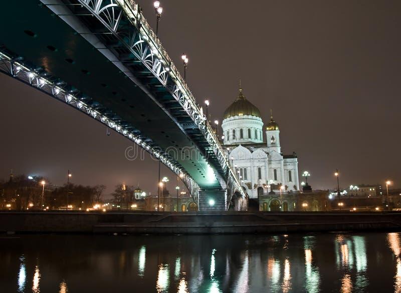 Christus de Kathedraal van de Redder in Moskou stock fotografie