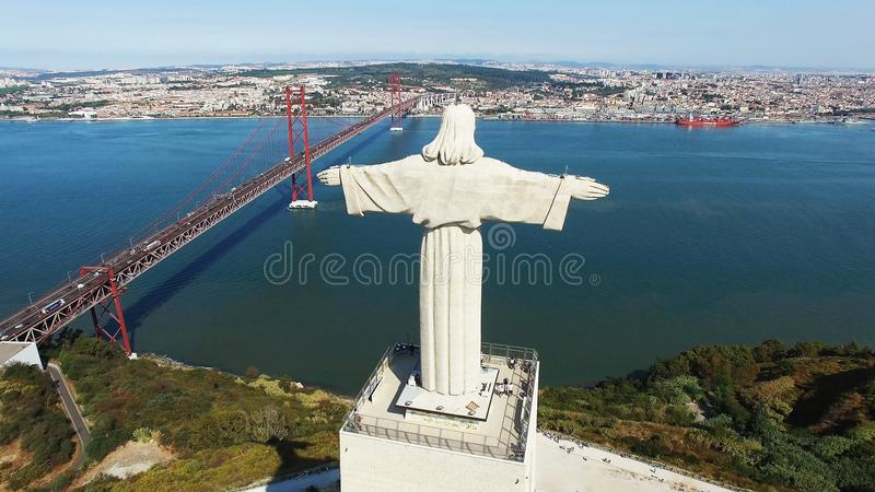 Christus de Koning Lisbon Portugal stock afbeelding