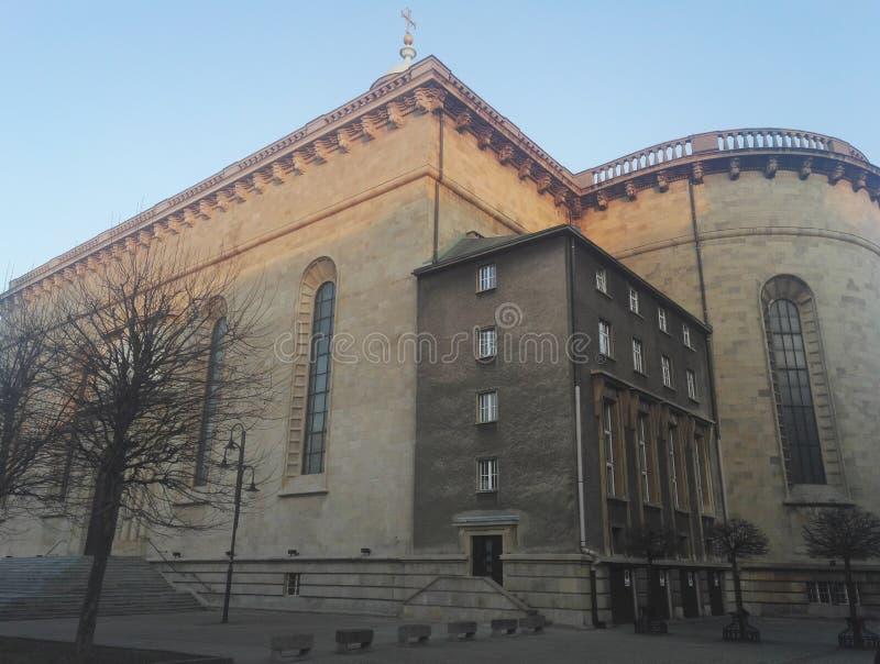 Christus de koningskathedraal in Katowice, Polen royalty-vrije stock foto