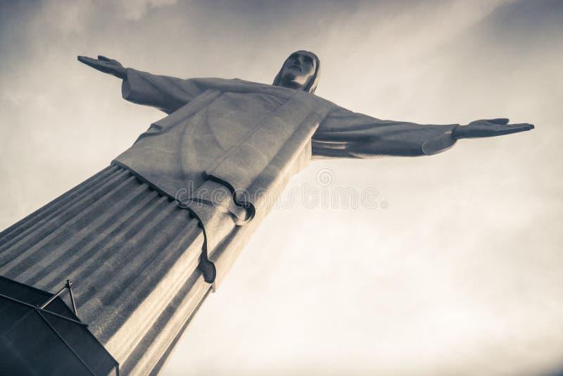 Christus de Verlosser (Cristo Redentor) in Rio, Brazilië royalty-vrije stock foto's