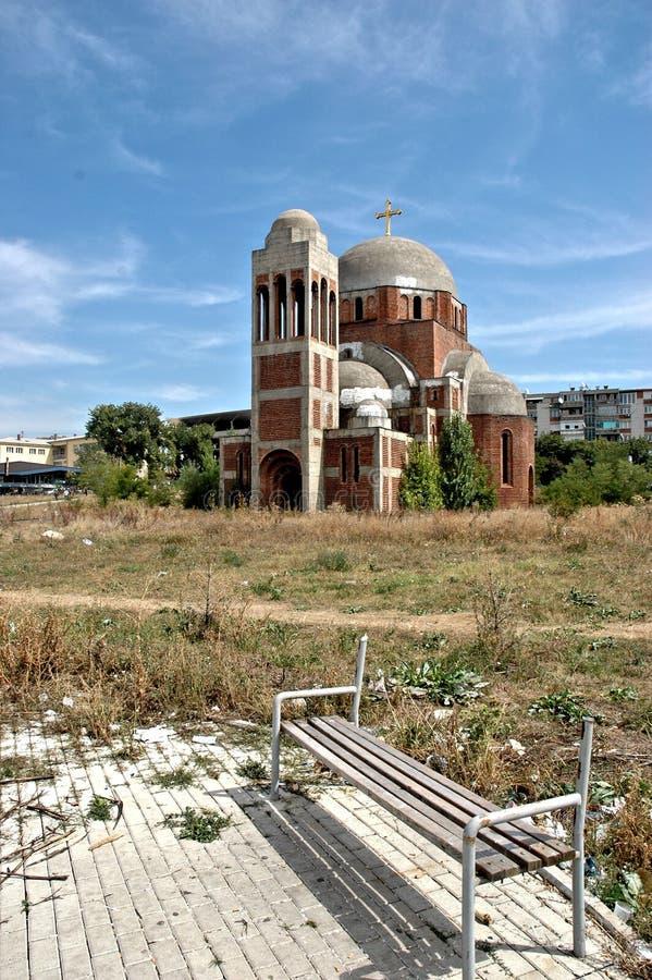 Christus de Verlosserkathedraal in Pristina, Kosovo royalty-vrije stock fotografie