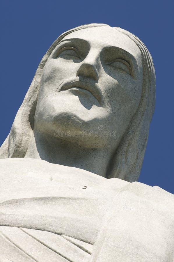 Christus der Erlöser bei Corcovado stellen Nahaufnahme gegenüber stockfotos