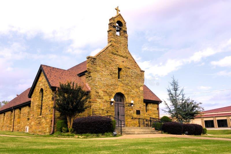 Christus der König Catholic Church in Fort Smith, Arkansas stockbilder