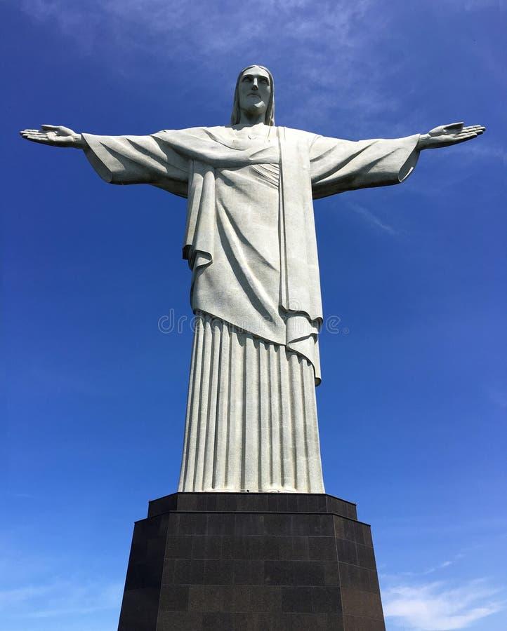 Christus die Erlöserstatue Cristo Redentor lizenzfreie stockfotografie