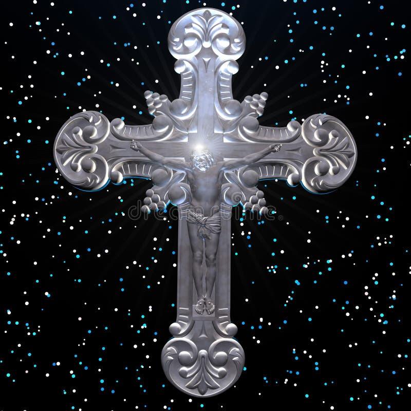 Christus en het kruis royalty-vrije stock afbeelding