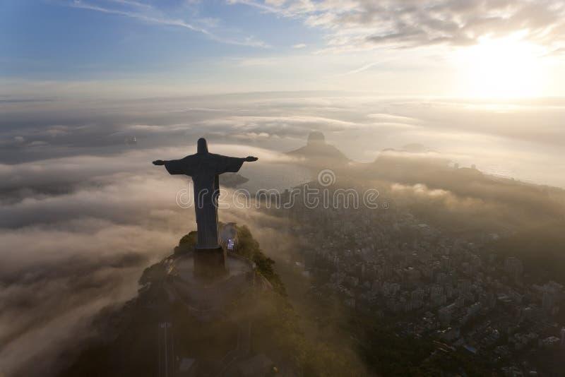 Christus-Erlöserstatue, Corcovado, Rio de Janeiro, stockfoto