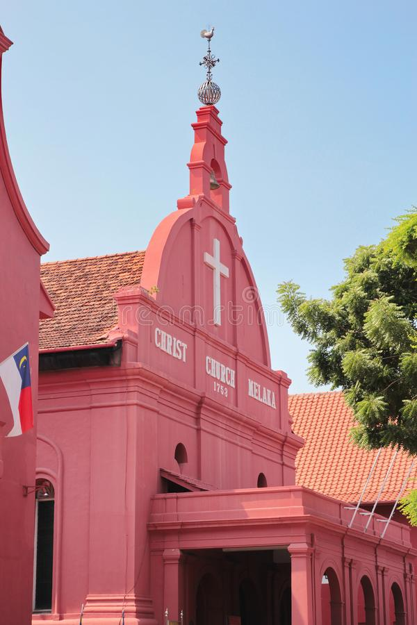 Christus-Kirche in Malakka/in Melaka, Malaysia stockfotos