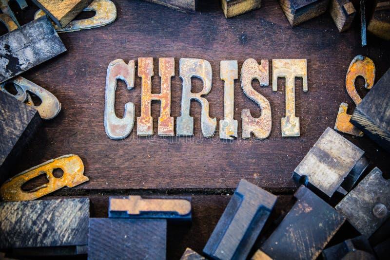 Christus-Konzept Rusty Type stockfotografie
