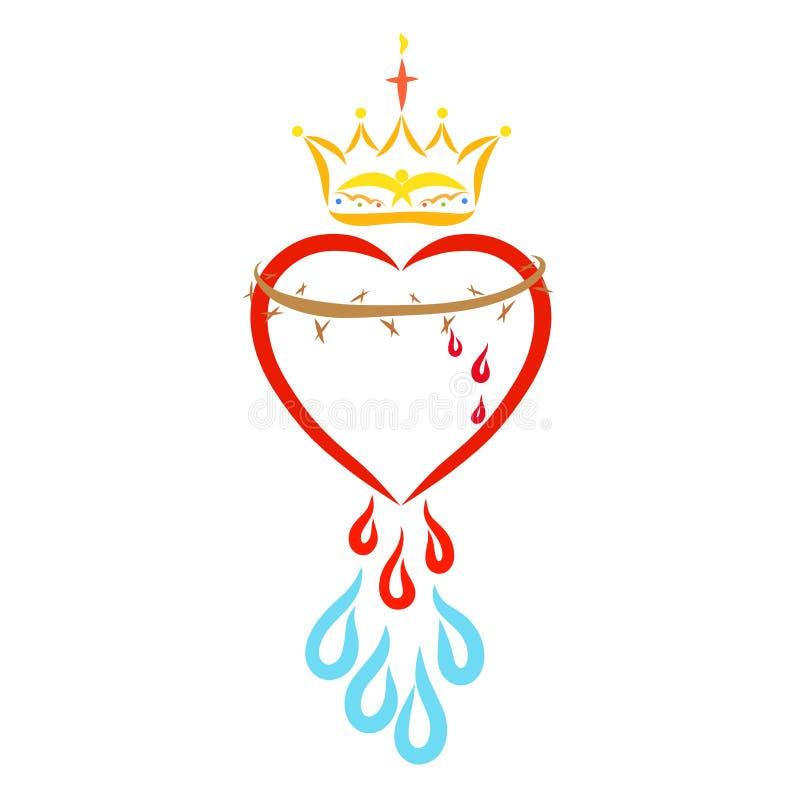 Christus Liebe, Opfer und Ruhm, christlicher Symbolismus stock abbildung