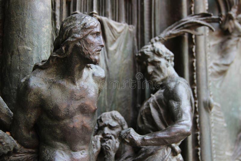 Christus in pijn stock fotografie