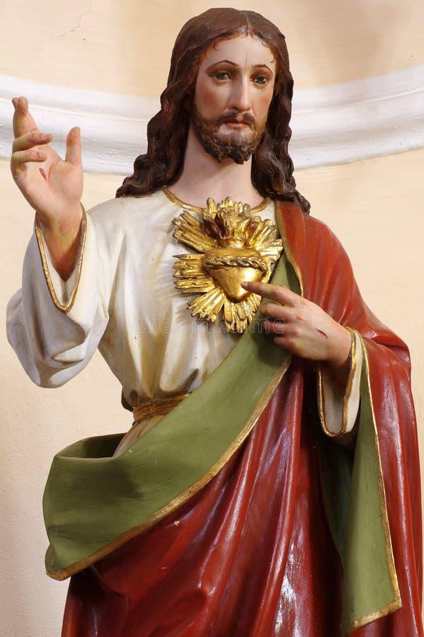 Christus-Porträtskulpturreligion lizenzfreie stockbilder
