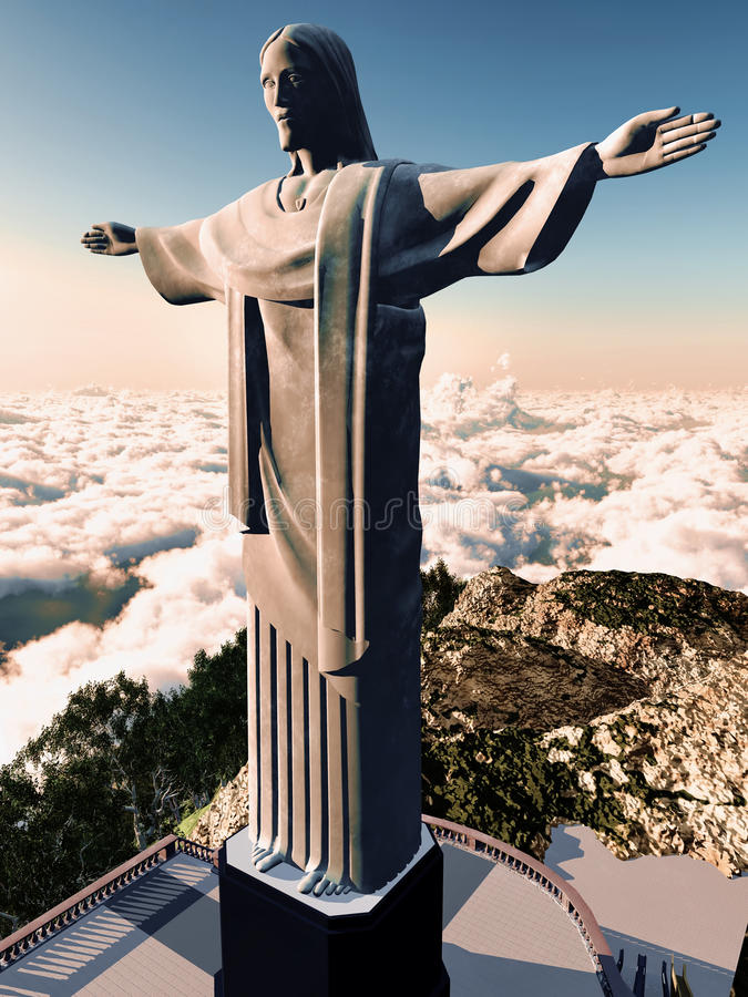Download Christus Reedemer stock illustratie. Illustratie bestaande uit bedevaart - 29505849