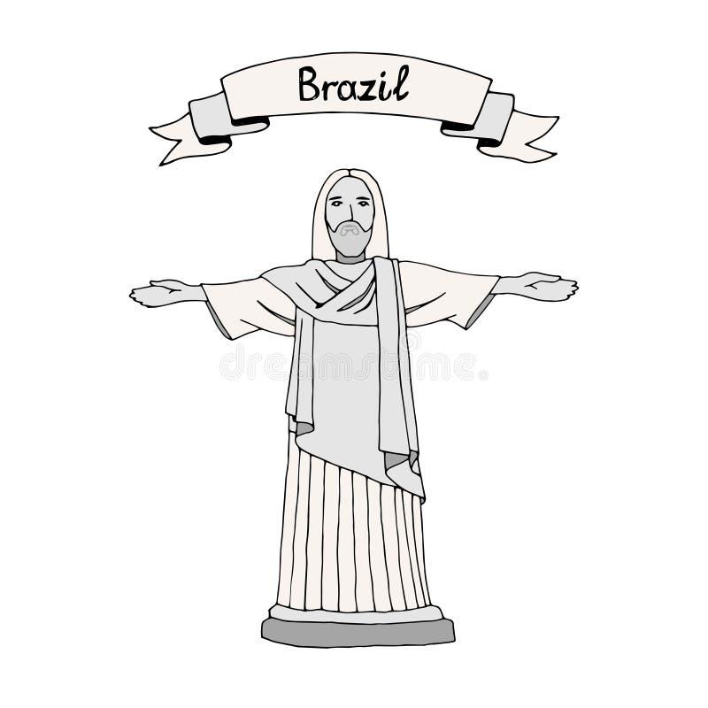 Christus Reedemer vector illustratie