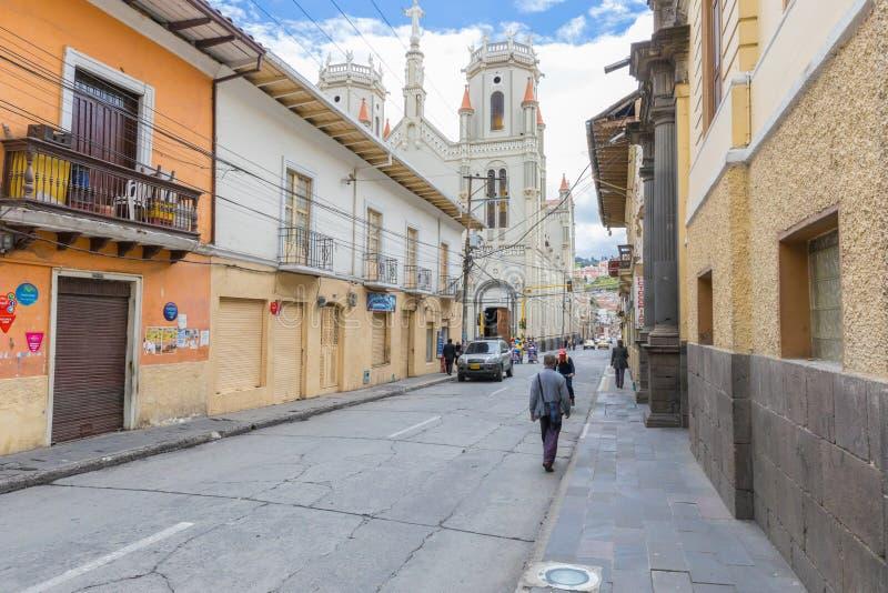 Christus Rey Temple in Pasto-de mening van Stadscolombia van twintigste manier stock foto's