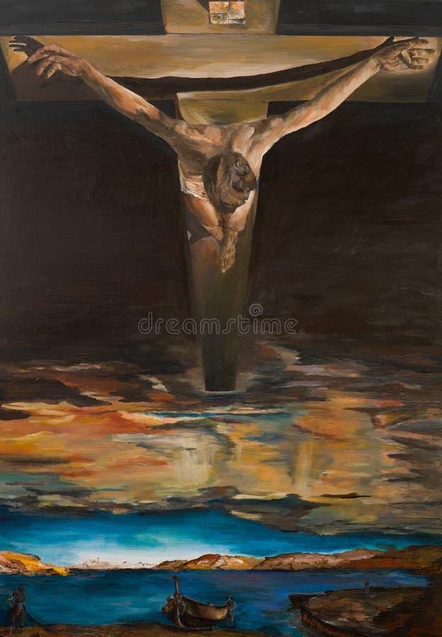 Christus van Heilige John van het Kruis, replica royalty-vrije illustratie
