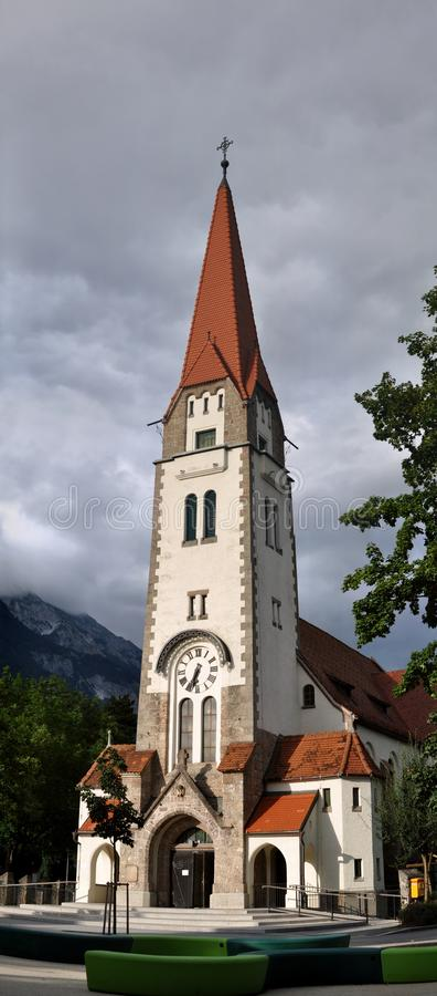 Christuskirche Innsbruck obraz stock