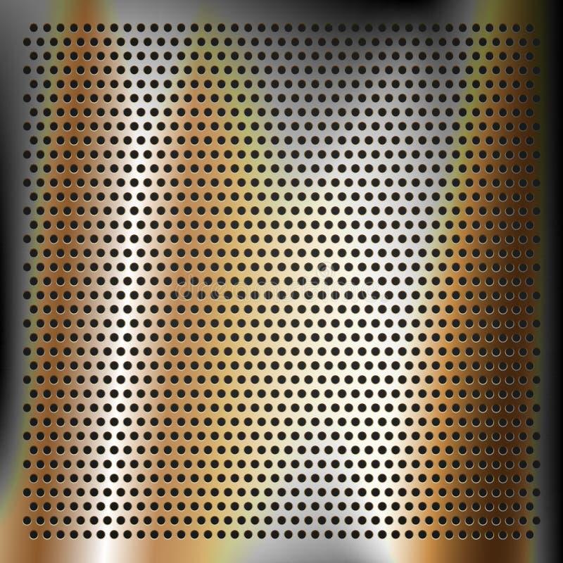 Chrom matrycujący brązowy szkotowy metal ilustracja wektor