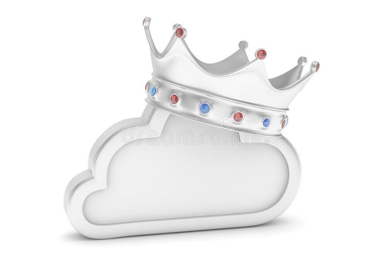 Chrom obłoczna ikona świadczenia 3 d royalty ilustracja
