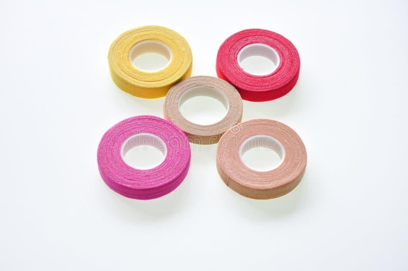 Chromatic Adhesive tape. On the white stock photo