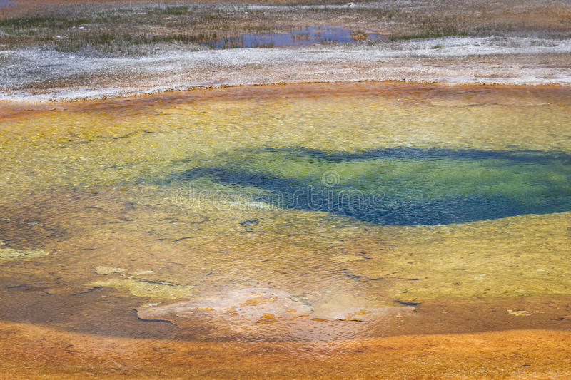 Chromatic pool. In yellowstone national park with beautiful vibrant colors stock photos