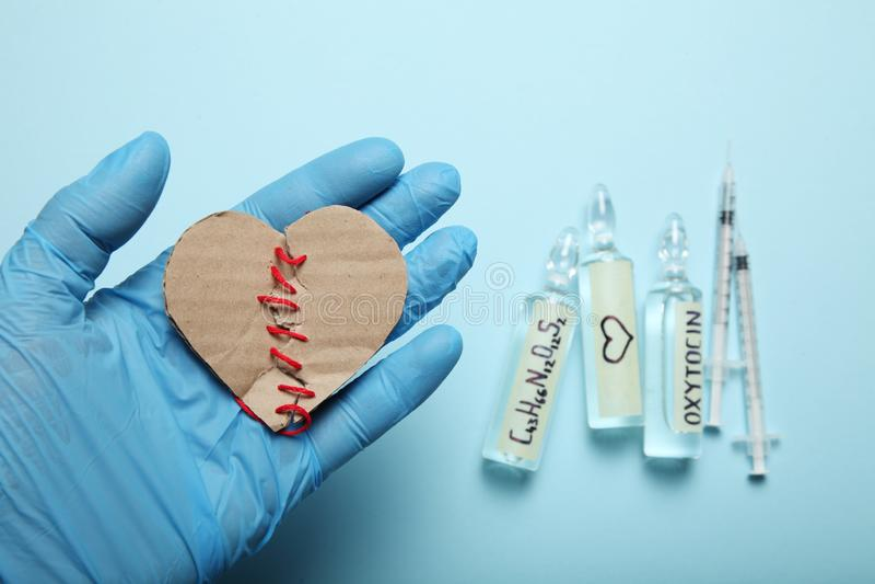Chromatography av biokemistoxytocin Hormonanalys Experimentellt f?r?lskelsebegrepp royaltyfria bilder