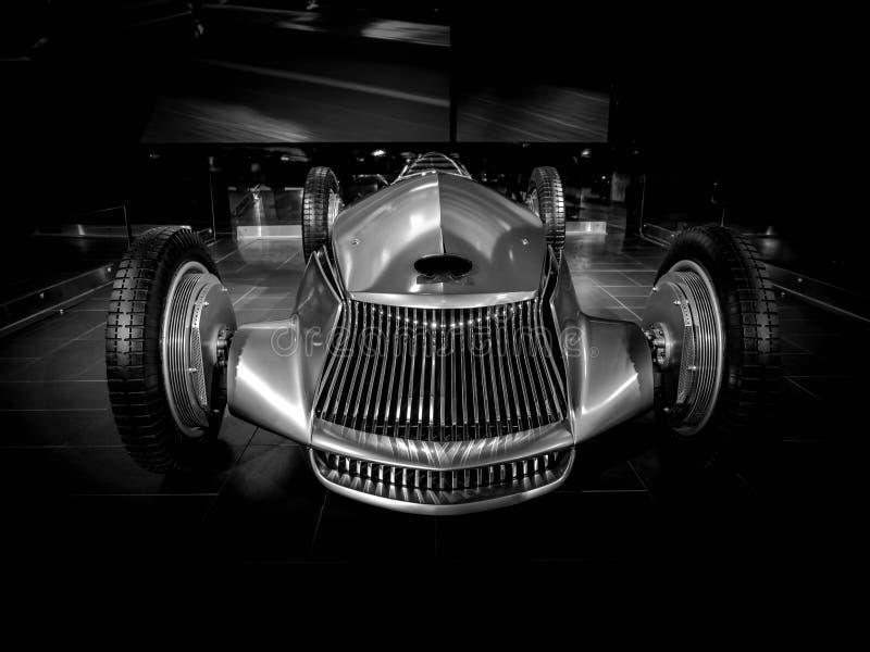 Chrome汽车原型银09 库存图片