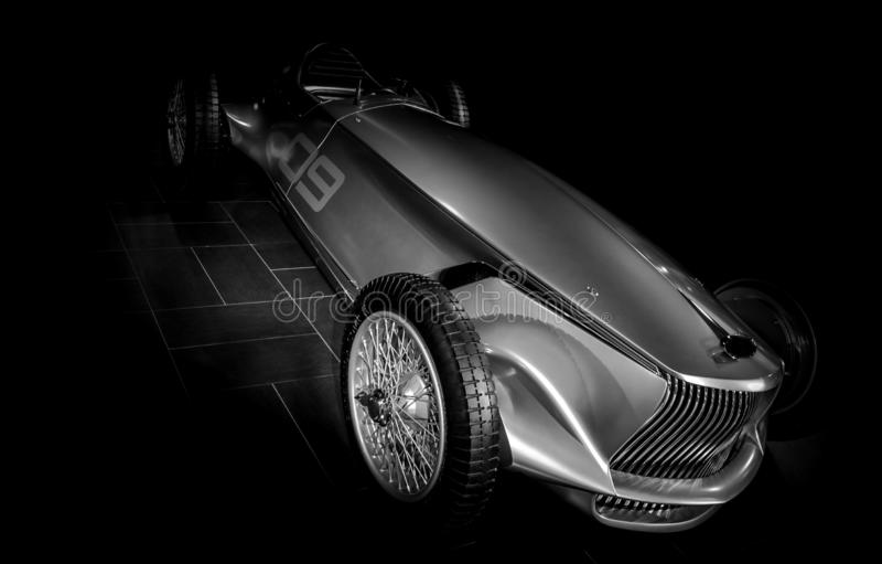 Chrome汽车原型银07 免版税图库摄影